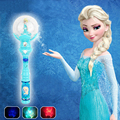 Fancy Original Fever Elsa Musical Fairy Toy Ice Princess Magic Wand with Lighting Action Figure Game Electric Toy Girl Best Gift