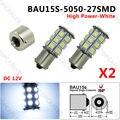 2 PCS Indicador PY21W Blanco 1156PY BAU15S 27 SMD 5050 lâmpadas LED Branco Xenon Luz 12 V 24 V