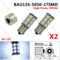 2PCS BAU15S 27 SMD 1156PY PY21W Blanco Indicator 5050 LED bulbs Xenon White Light 12V 24V