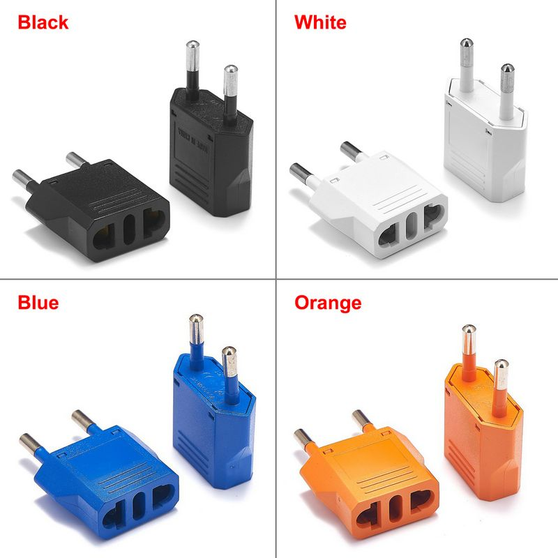 200pcs EU Travel Adapter American Japan China CN US To EU Euro European Plug Adapter Electric