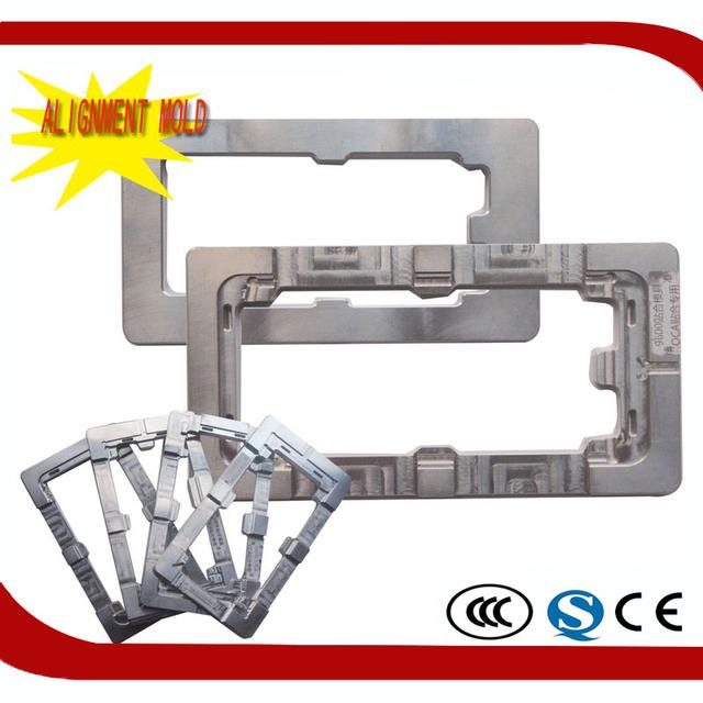 2 pçs/set para iphone 6 6 s 4.7 para iphone 6 p 6 s plus alumínio liga de Metal Laminado OCA Telefone Fixo Do Molde Moldes LCD Cola UV Molde