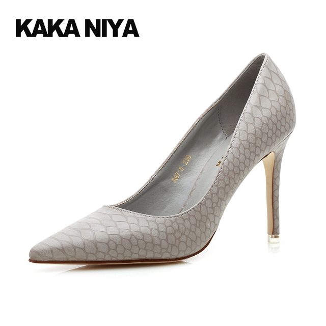 686a0a94631b Shoes 4 34 Small Size Elegant Pumps Scarpin High Heels Snake Gray Lady  Yellow 2017 Pointed Toe 9cm Inch Fashion Trendy Asakuchi