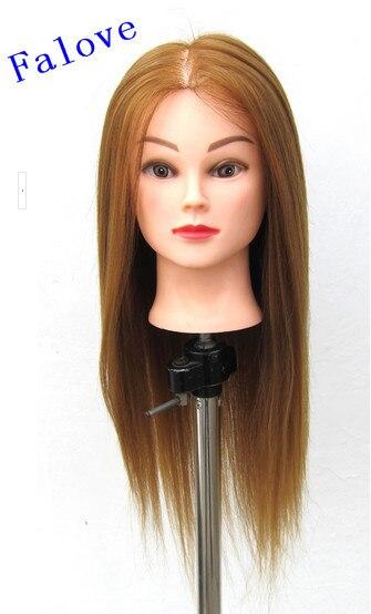 Livraison gratuite tête de coiffure formation tête de Mannequin tête de Mannequin avec tête de cheveux avec des cheveux pour la vente directe d'usine pratique