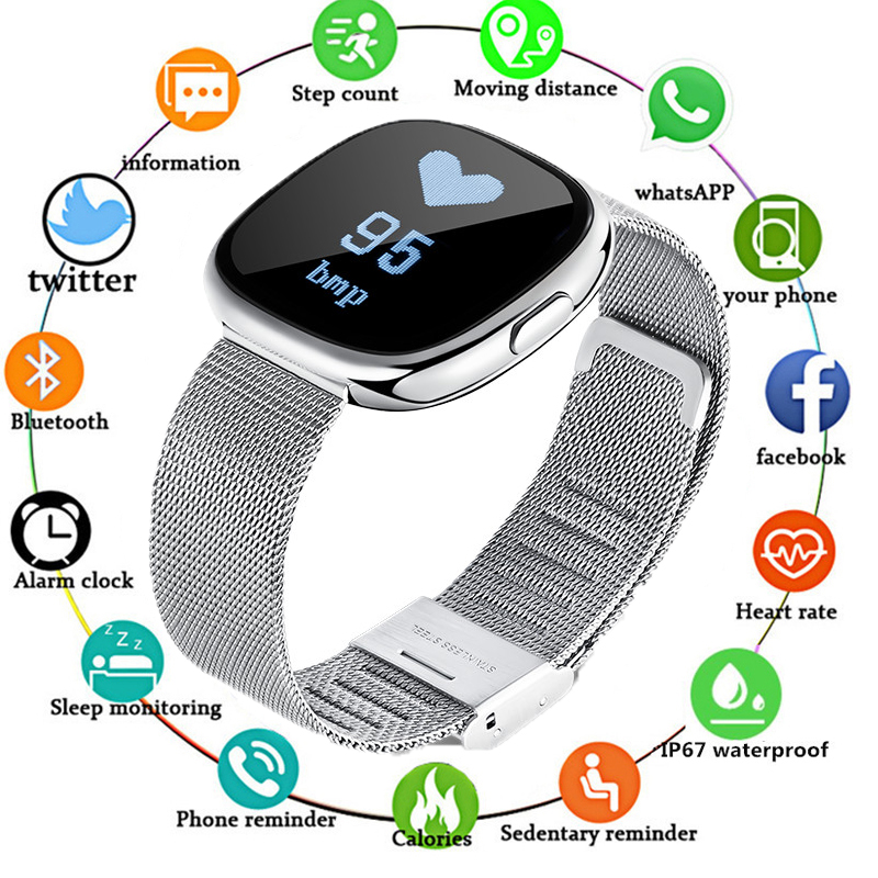 P2 Business Smart Watch With Heart Rate Blood Pressure Monitor Pedometer Call SMS Reminder Sleep Tracker Smartwatch Women MenP2 Business Smart Watch With Heart Rate Blood Pressure Monitor Pedometer Call SMS Reminder Sleep Tracker Smartwatch Women Men