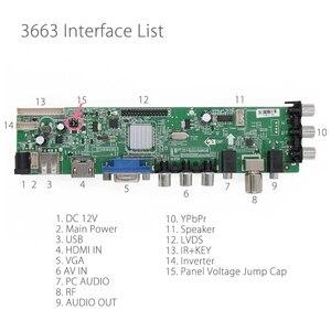 Image 2 - 3663 New Digital Signal DVB C DVB T2 DVB T Universal LCD TV Controller Driver Board UPGRADE 3463A Russian USB play LUA63A82