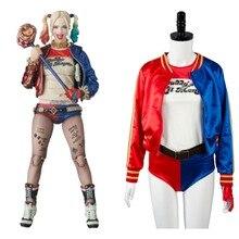 Batman Harley Quinn Suicide Squad Jaket T Shirt Shorts Wig Belt Anime Halloween Joker Christmas Cosplay Costumes For Adult Women