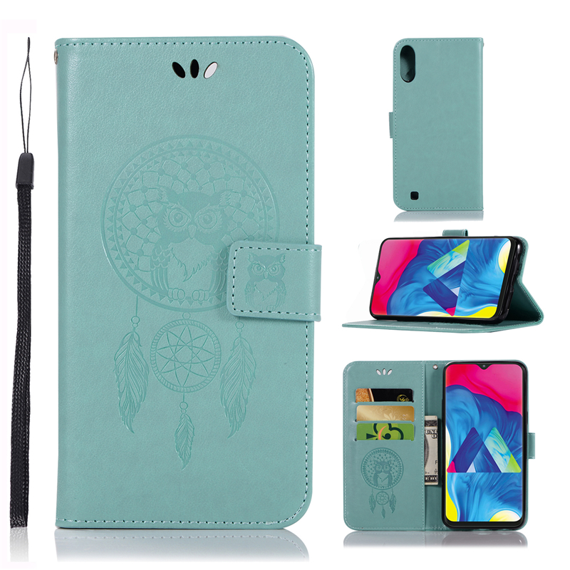 For Cover Samsung Galaxy M10 Case Dreamcatcher Leather Wallet Flip Case for Samsung Galaxy M10 Cover For Galaxy M10 Phone Case
