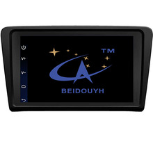 BEIDOUYH 9 inch Android Car GPS Navigation for Volkswagen SANTANA 2013 with OBD2 SWC Bluetooth Wifi DVR rear view cam car radio