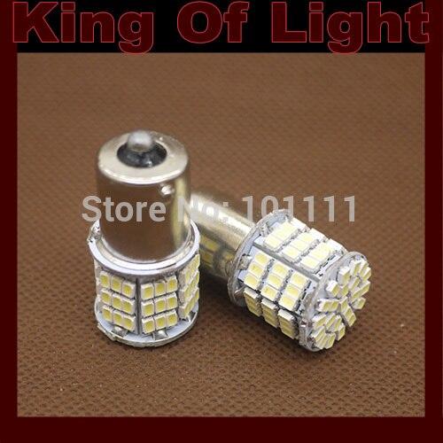 2x car led 1156 85 smd 3020 P21w s25 ba15s 1206 85smd led Tail Reverse Backup LED Light White Free shipping