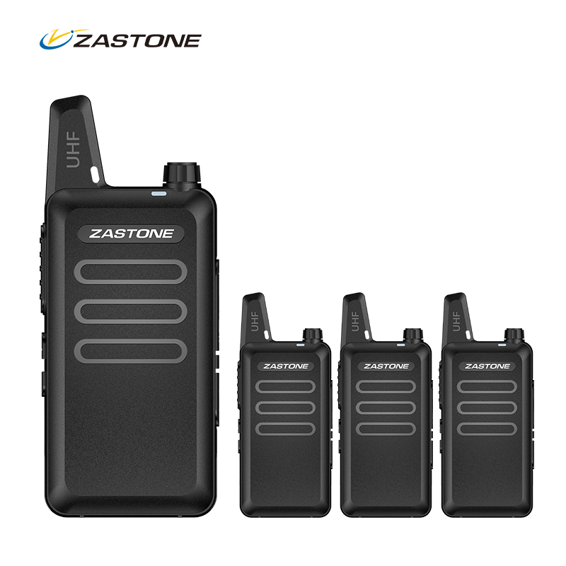 (4pcs) Zastone X6 Mini Walkie Talkie UHF Handheld Two Way Ham Radio Communicator HF Transceiver Amateur Handy