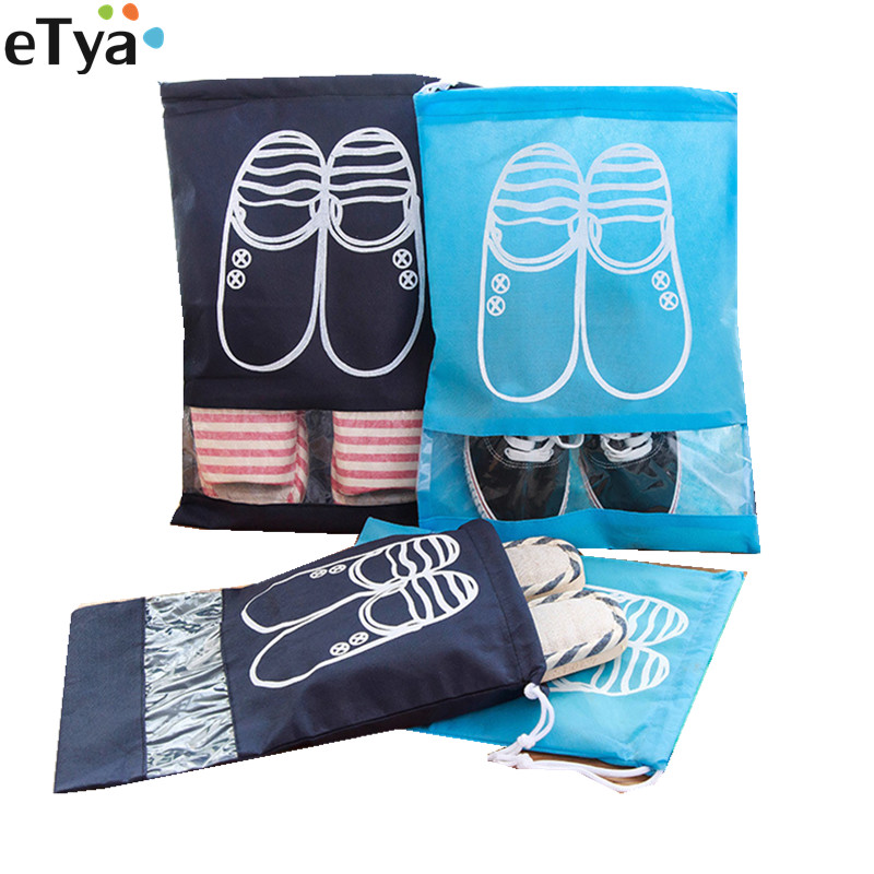 1PCS Waterproof Travel Shoes Bags For Women Men Dustproof Cover Shoes Bags Tote Drawstring  Storage Pouch
