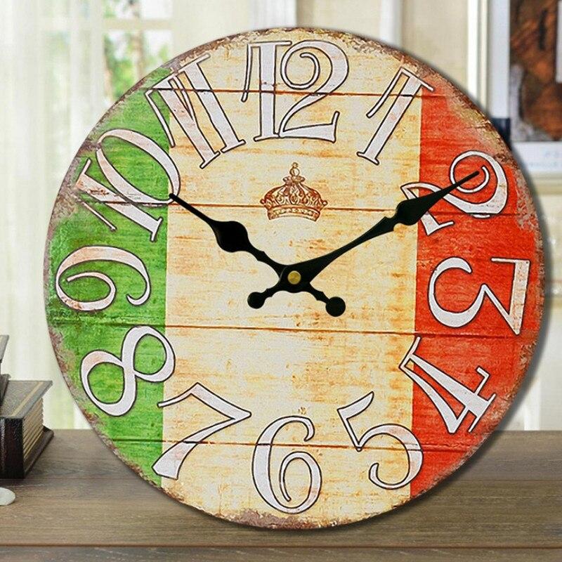 Antique De Paris Wall Clock 14 inch Wall Watch Round Wooden Clock