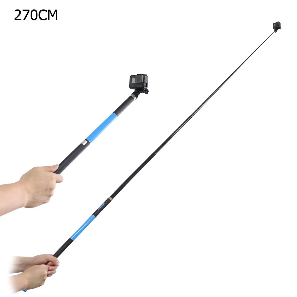 TELESIN 106 Long Carbon Fiber Selfie Stick for GoPro Hero 6 5 4 3 Session Xiaomi YI 4K SJCAM EKEN Extendable Handheld Monopod for go pro accessories handheld extendable pole monopod selfie stick for gopro hero5 hero4 session hero 6 5 4 xiaomi yi sj4000