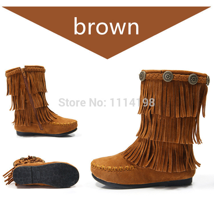 Aliexpress.com : Buy 2016 New Genuine Leather Children Fringe ...
