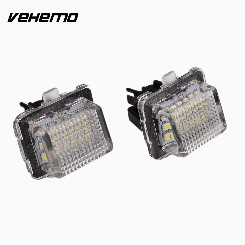 Vehemo 2Pcs 18 LED Number License Plate Light Lamp Error Free For Benz W221 C216 W204 2pcs 12v 31mm 36mm 39mm 41mm canbus led auto festoon light error free interior doom lamp car styling for volvo bmw audi benz