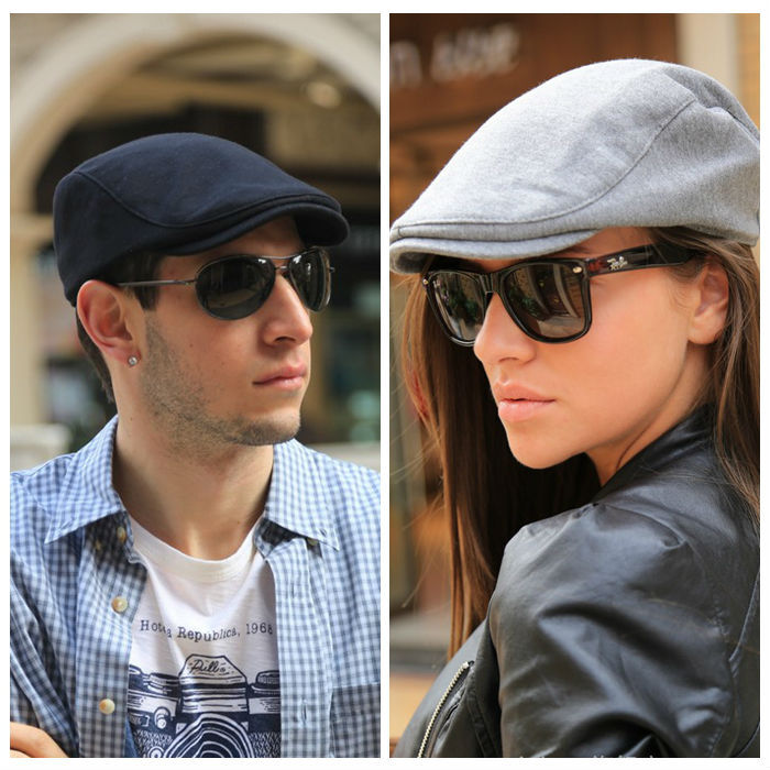 Summer Sports Beret Caps for men Women Fashion Cotton flat cap Outdoor Hats brand Sun Hat(China)