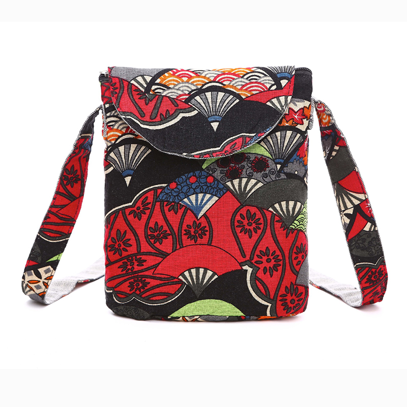 Women Printing Messenger Bag Purse Satchel Fashion Handbag Flower Shoulder Bags Handbags Vintage Canvas Mini Crossbody