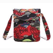 Women Printing Messenger Bag Purse Satchel Fashion Handbag Flower Shoulder Bags Handbags Vintage Canvas Mini Crossbody