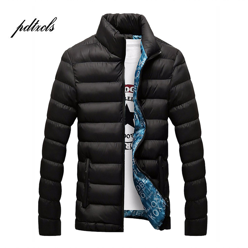 Hot Brand Fashionable Solid Quality Open Stitch Zipper Jackets Men Winter Casual Slim Stand Mens Parka Windbreak Jackets Coats