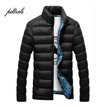 Hot Brand Fashionable Solid Quality Open Stitch Zipper Jackets Men Winter Casual Slim Stand Mens Parka Windbreak Jackets Coats - DISCOUNT ITEM  48% OFF All Category