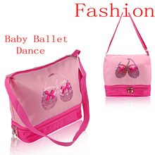 Cheap Discount Pink Dance Crossbody Bags Beautiful Embroidered Sequin Ballet Shoes Cute Girls Children Ballet Dance Bags For Kid