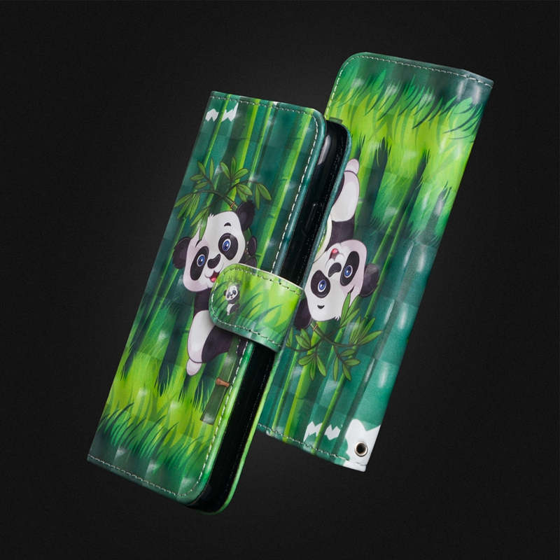 Phone Cover For iphone 7 Case Flip 3D Cart Pattern Leather For iphone X Case Lovely Panda For iphone 7 Plus 8 Plus Phone Cases