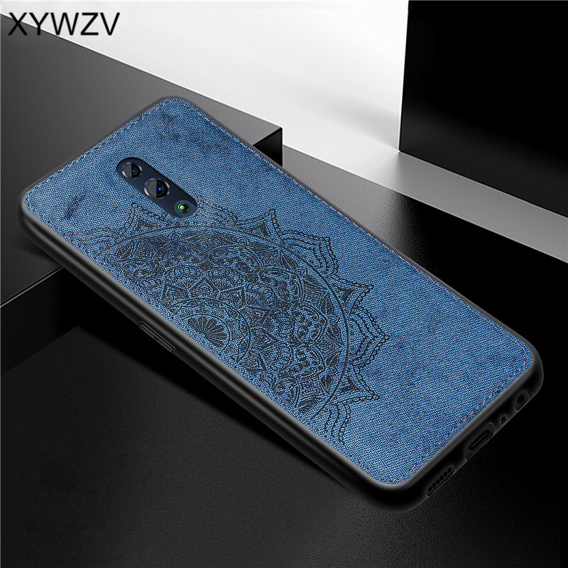 Image 2 - For OPPO RenO Case Shockproof Cover Soft Rubber Silicone Luxury Cloth Texture Phone Case For OPPO RENO Back Cover For Oppo Reno-in Fitted Cases from Cellphones & Telecommunications