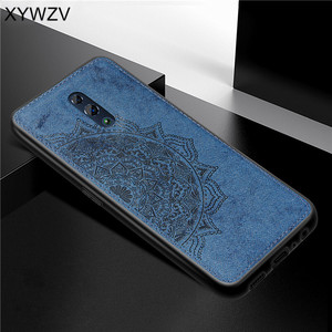 Image 2 - For OPPO RenO Case Shockproof Cover Soft Rubber Silicone Luxury Cloth Texture Phone Case For OPPO RENO Back Cover For Oppo Reno