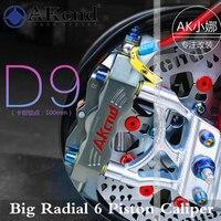 6 поршень мотоцикл тормозной суппорт суппорты Akcnd d9 тормоз насос 100 мм отверстия до отверстие личности для Yamaha Honda Kawasaki Suzuki
