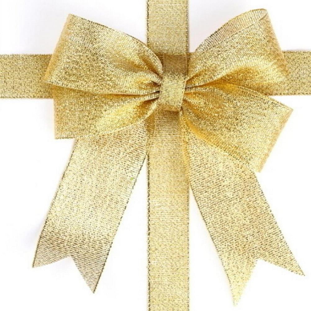 1pcs 25 Yard Organza Glitter Ribbons For Wedding Craft Bow