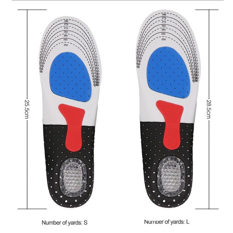 Unisex gel Insoles Pads comfortable sport Insole Shock Basketball Football Deodorant Thickening orthopedic insoles Men Women Plu 1