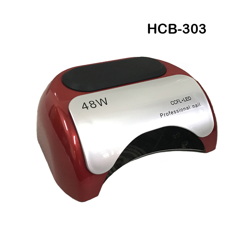 HCB-303 48W Nail Dryer Polish Machine CCFL UV Lamp LED Nail Lamp For Gel Nail Polish Art Automatic Hand Sensor Nail Art Tools 48w nail polish gel art tools professional ccfl led uv lamp light 110 220v nail dryer automatic induction 10s 20s 30s timer