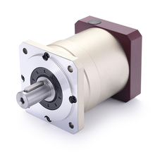 80 dubbele brace Spur gear planetaire versnellingsbak reducer 6 arcmin 3:1 10:1 voor 750 w AC servo motor ingang as 19mm