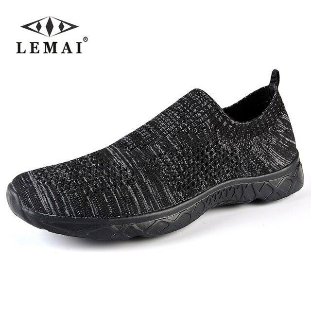 Chaussure Homme Quatre Saisons Qualité Supérieure Maille Appartements Casual Marque Mocassins Classique Léger Respirant Confortable UkERU