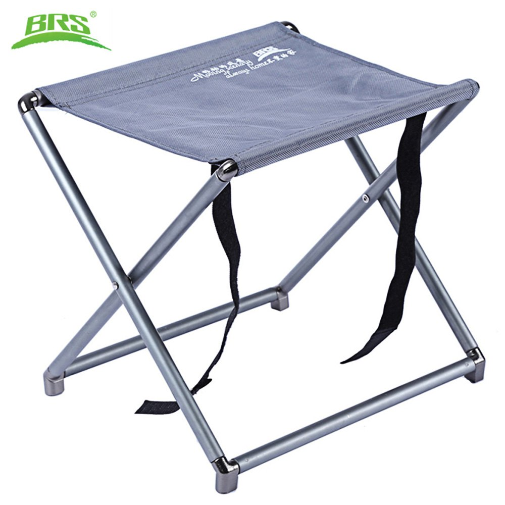 Backpacking chair ultralight - Brs D21 Portable Outdoor Oxford Fabric Ultralight Foldable Stool Chair For Fishing Bbq Camping Hiking