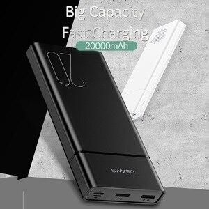 Image 5 - USAMS 20000 мАч, быстрая зарядка, внешний аккумулятор для Xiaomi Mi 20000 мАч, внешний аккумулятор для iPhone, зарядное устройство