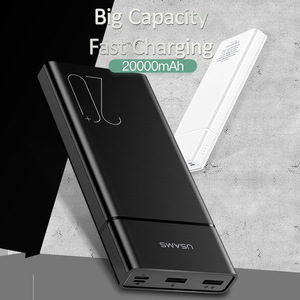Image 5 - USAMS 20000 mAh FAST CHARGE Power Bank สำหรับ Xiao Mi Mi 20000 mAh Poverbank สำหรับ iPhone Charger ภายนอกแบตเตอรี่ Charger powerbank