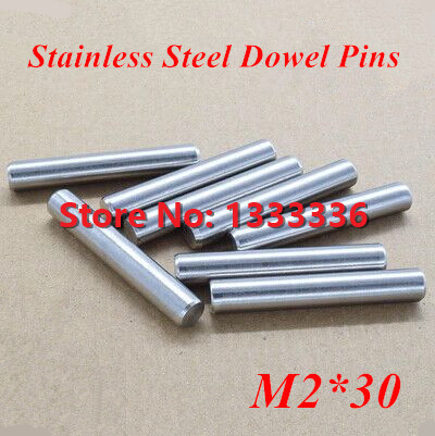 200pcs/lot M2*30 GB119 Stainless Steel Dowel Pins / Cylinder Pin Dia 2mm