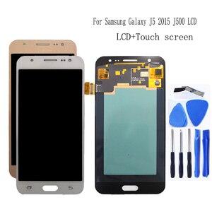 Image 1 - AMOLED Für Samsung Galaxy J5 2015 J500 LCD Display touchscreen digitizer Montage J500H J500FN J500F J500M SM J500F Telefon Teile