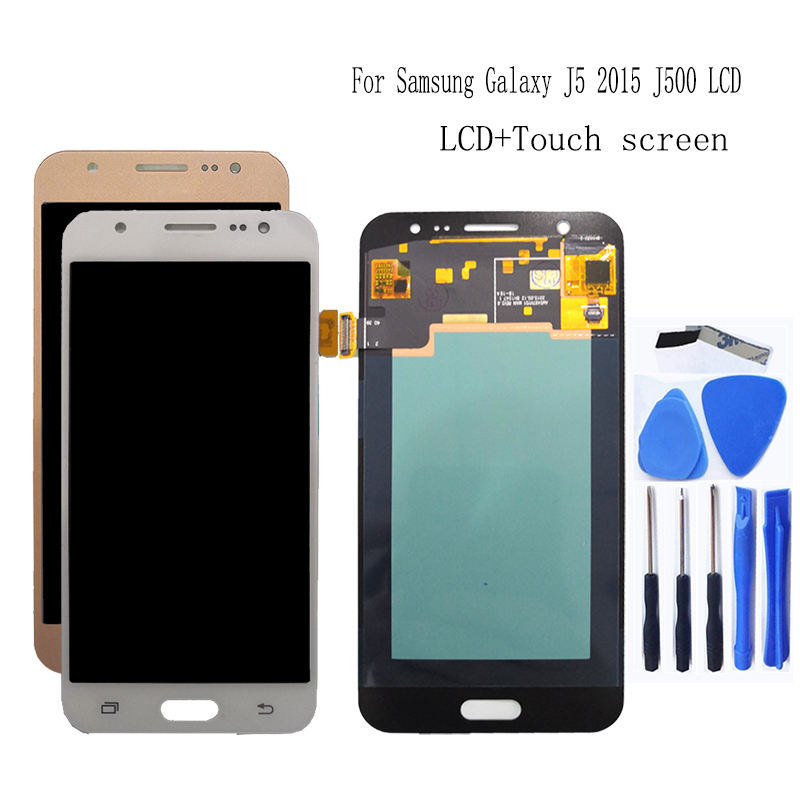 AMOLED for Samsung Galaxy J5 2015 J500 5.0 inch LCD monitor touch screen J500H J500FN J500F J500M SM J500F digitizer accessories-in Mobile Phone LCD Screens from Cellphones & Telecommunications