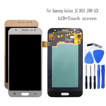 Amoled para samsung galaxy j5 2015 j500 lcd screen display toque digitador assembléia j500h j500fn j500f j500m SM J500F peças de telefone