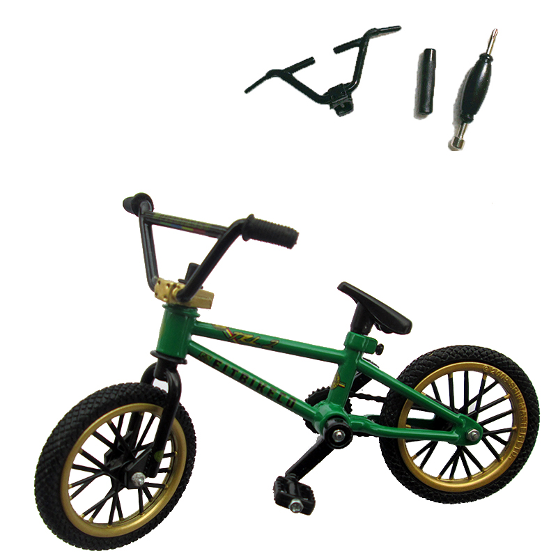 Verde FITBIKECO Mini dedo BMX bicicleta de película Trix dedo bicicletas juguetes tecnología cubierta BMX modelo de bicicleta Gadgets Juguetes Para los niños
