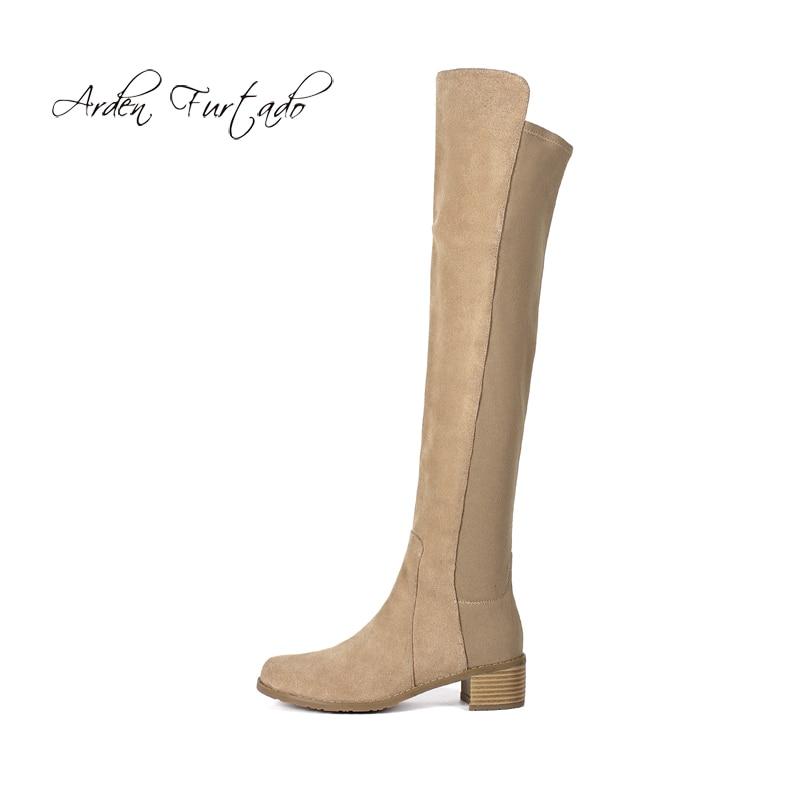 Black Bottes apricot 2019 Dames Stretch De Nouveau Haute Abricot Chaussures Bout D'hiver 5 Chaussons Mode Chunky Med Femmes Cm Rond grey Genou Talons qx48w0RB