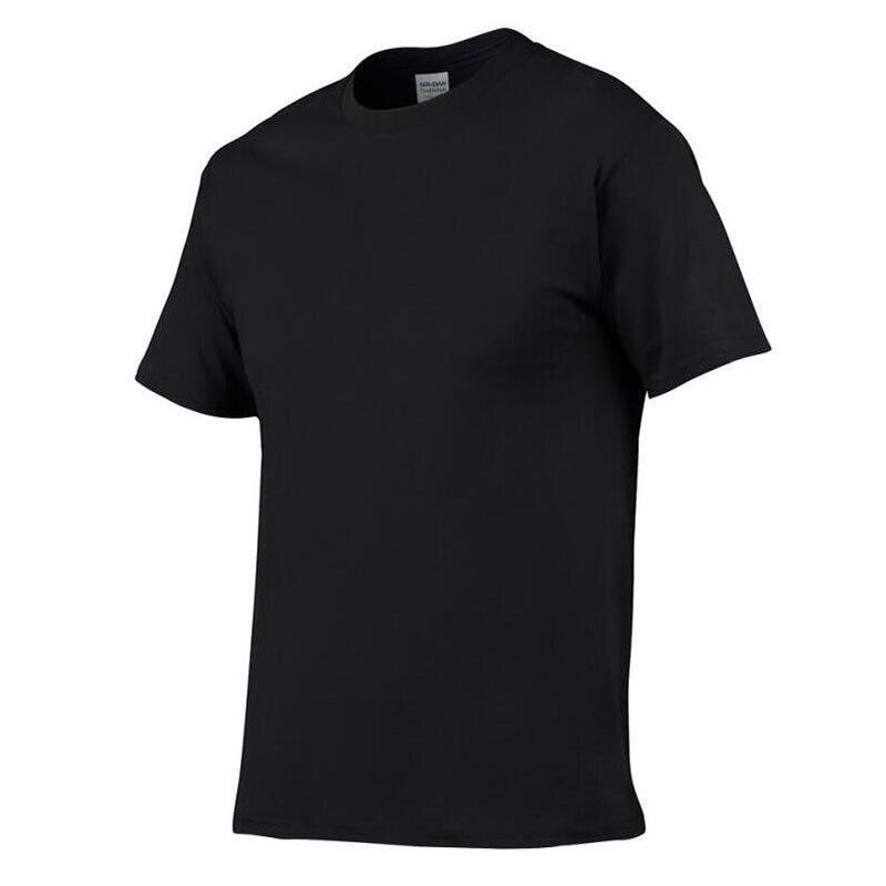 Solide couleur 100% Coton T Shirt Mens Noir Blanc T-shirts 493 #