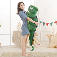 1pc 140cm Cartoon chameleon Plush Toy lizard Soft animal Cushion Stuffed Doll Pillow Home decor Funny Creative Gift for children