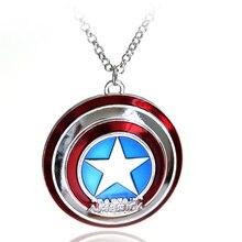 Модные Серебряные Подвески Капитан Америка супер герой кулон из фильма ювелирные изделия для мужчин и женщин Подарки