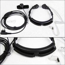 XQF 2 контактный горловой микрофон, гарнитура с микрофоном, гарнитура PTT для Motorola Radio Walkie Talkie CP040 CP140 CP180 CP185 CP200 EP450 GP300