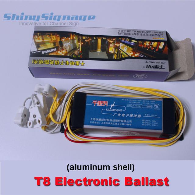 KILOBRIGHT T8 Electronic Ballast for Fluorescent Lamps light box aluminum shell AC220V 50Hz Free shipping