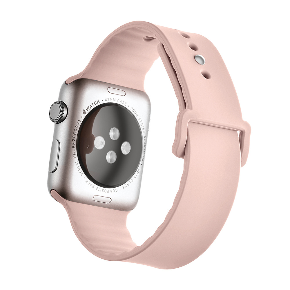 Sport iWatch Apple Watch 38mm 42mm Men Women Silicone Sport Wrist Strap Band Replacement Bracelet for iWatch Watch Accessories