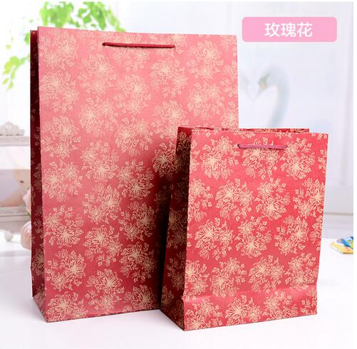 25x33x8cm/custom made promotional cheap  brown kraft paper bags with handle 25 33 8cm kraft paper gift bag festival paper bag with handles fashionable jewellery bags wedding birthday party